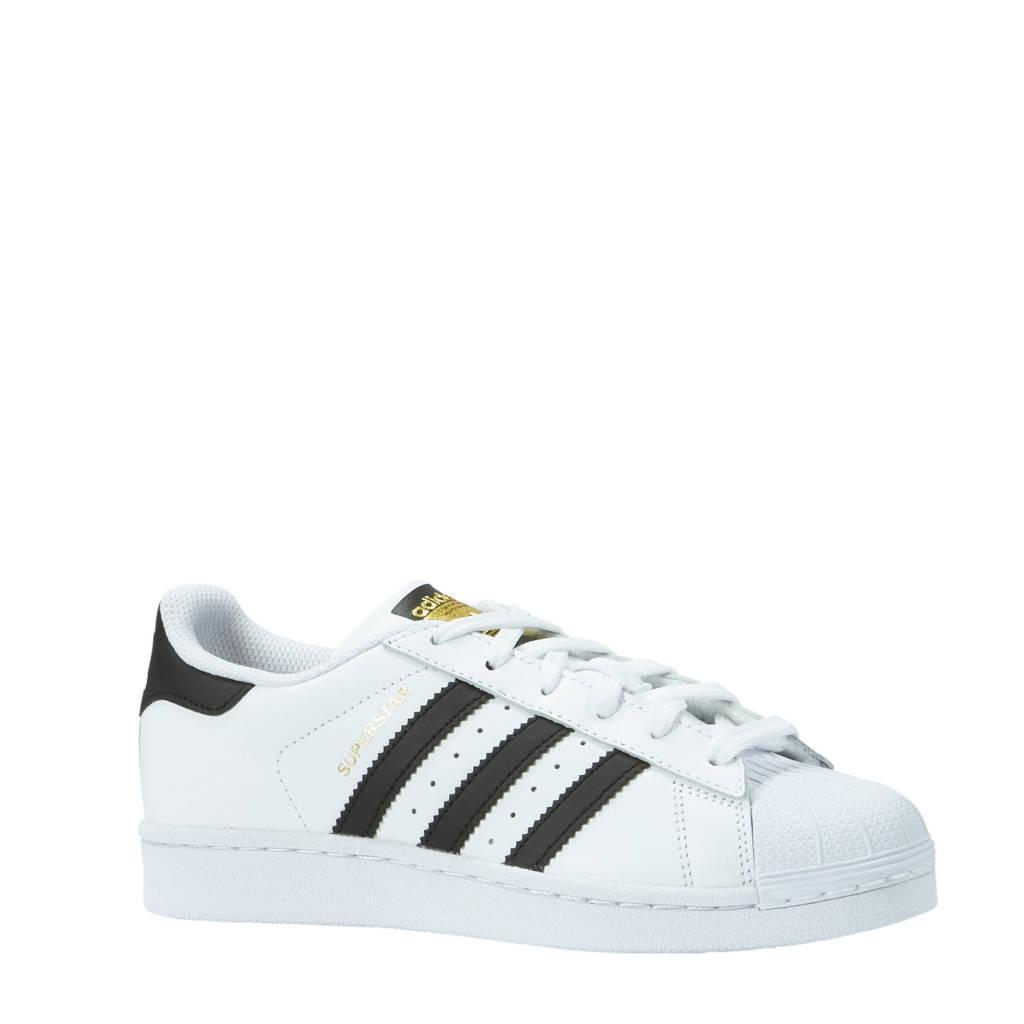 adidas originals  Superstar J sneakers, Wit/zwrat