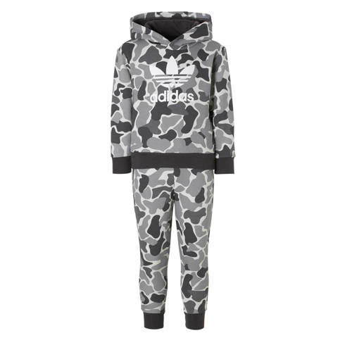 trainingspak met camouflage print grijs