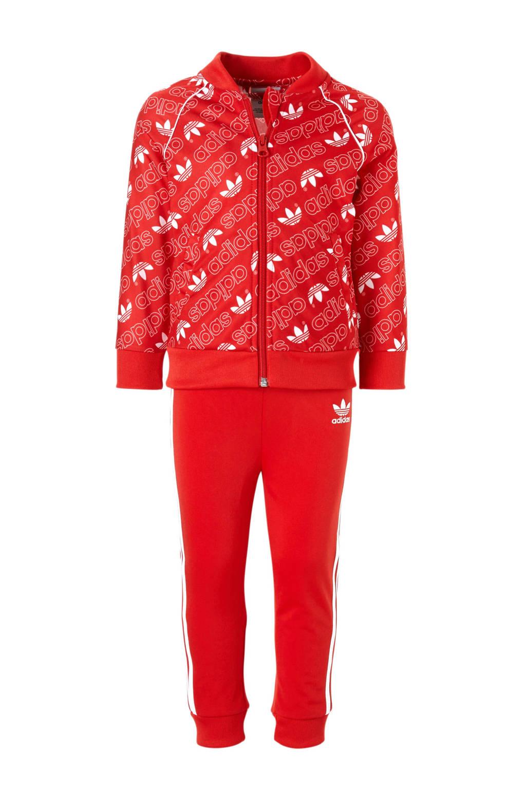adidas originals   trainingspak rood, Rood