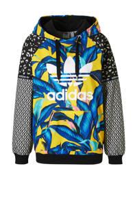adidas / hoodie met all over print geel/blauw