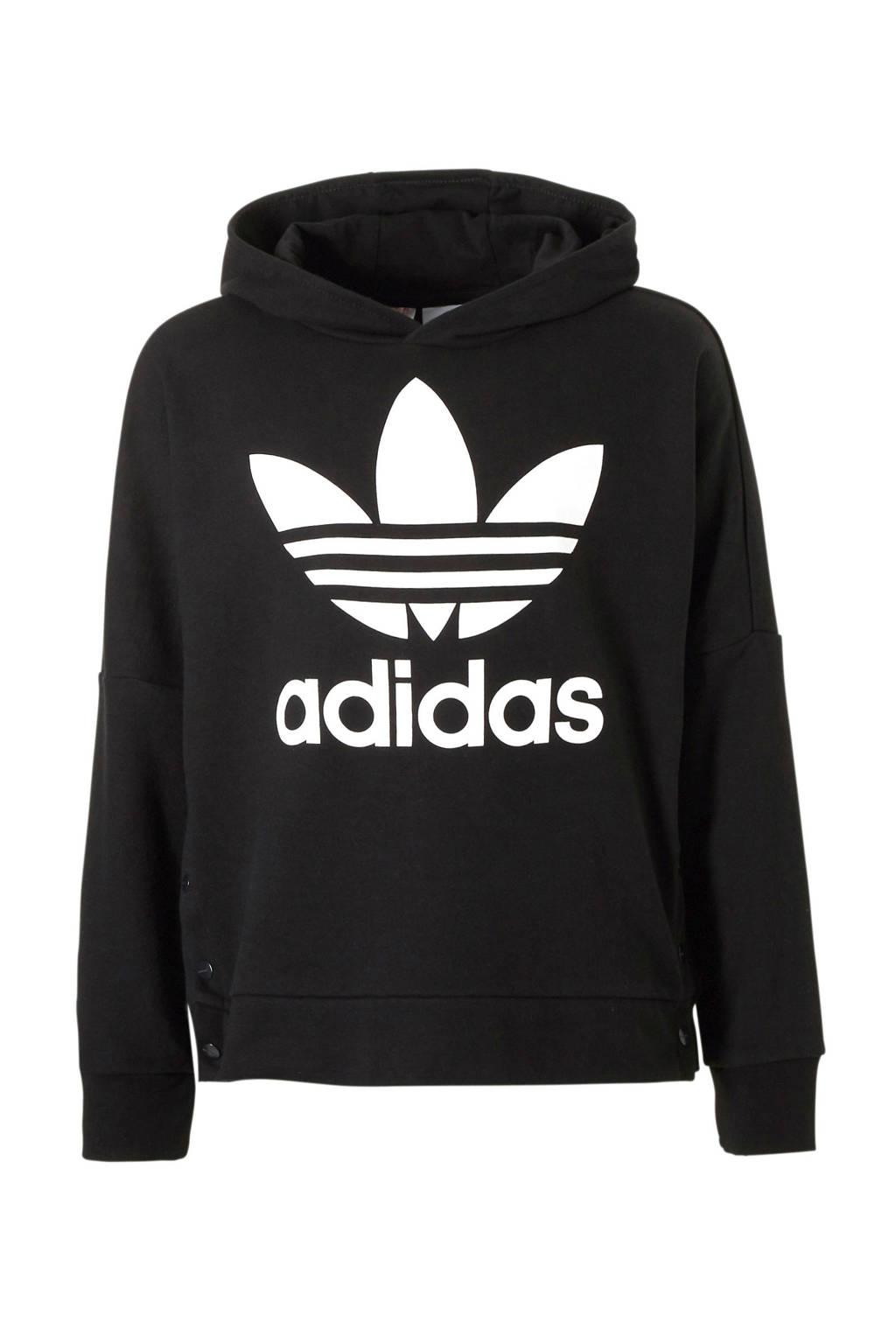 adidas originals   hoodie, Zwart/wit