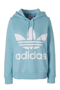 adidas / hoodie lichtblauw