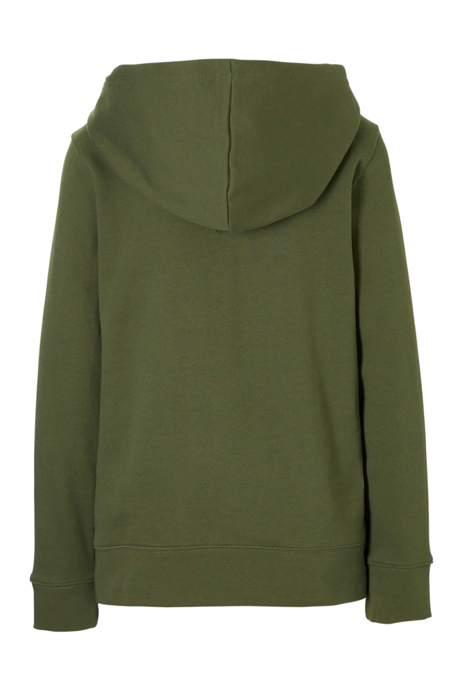 hoodie legergroen
