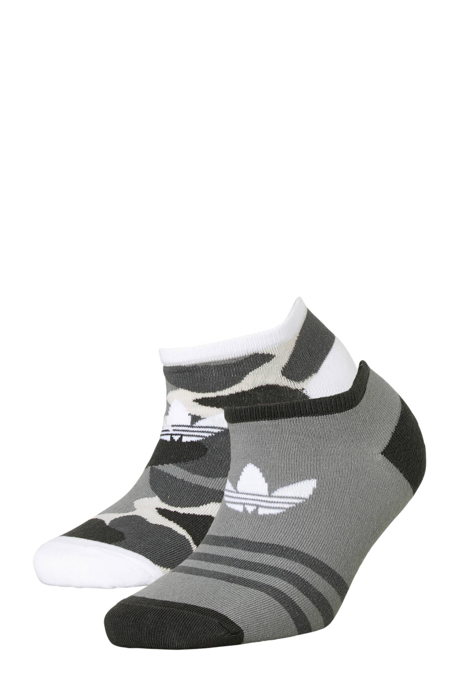 adidas originals sneakersokken set van 2 | wehkamp