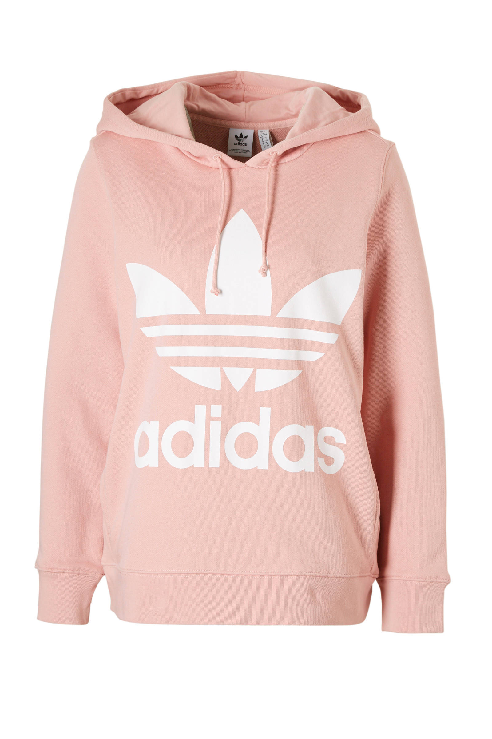 Adidas Originals Trefoil Overhead Hoodie Dames Roze Dames ...
