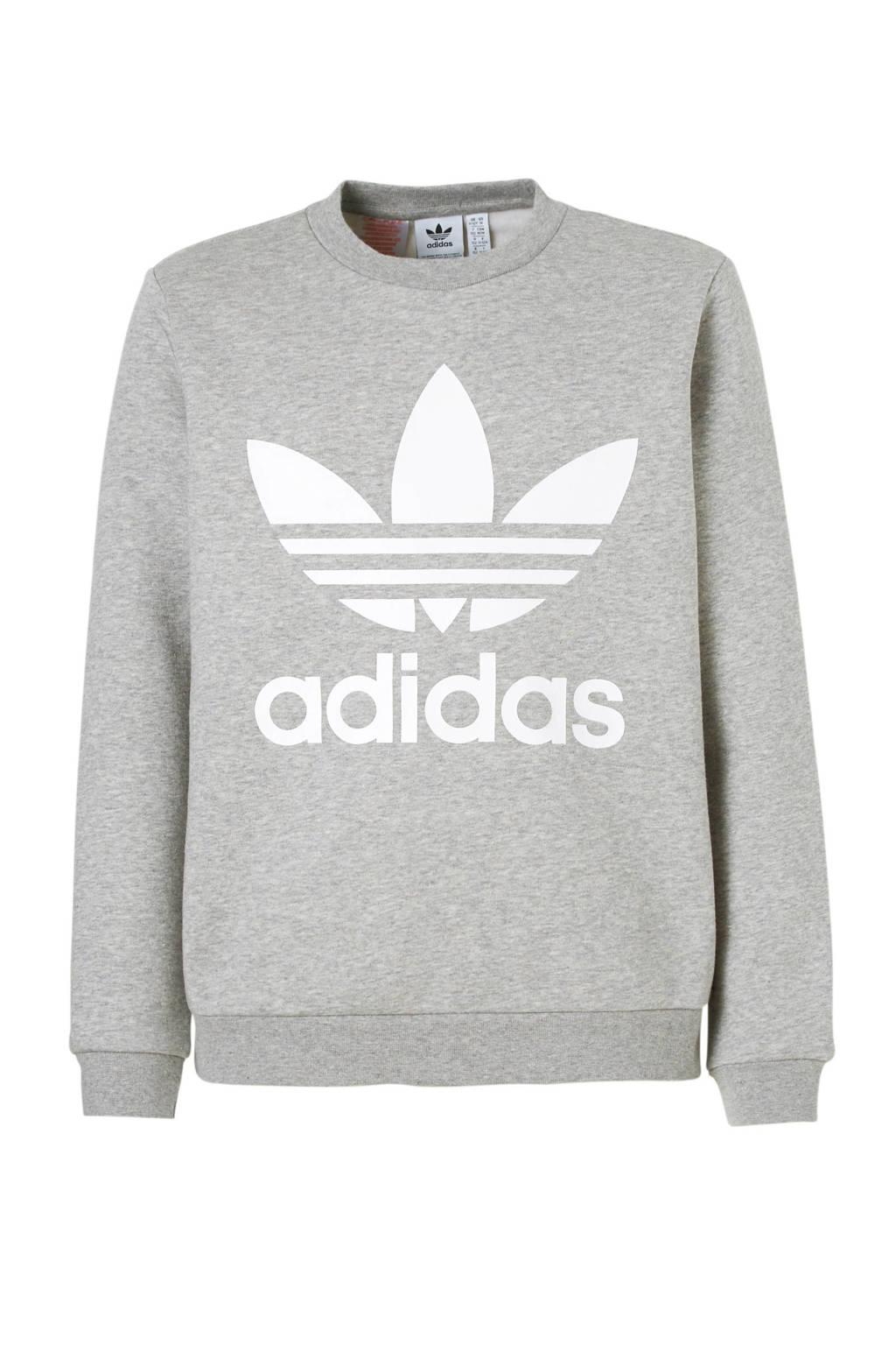 65707f6a307 adidas originals sweater, Grijs melange/wit