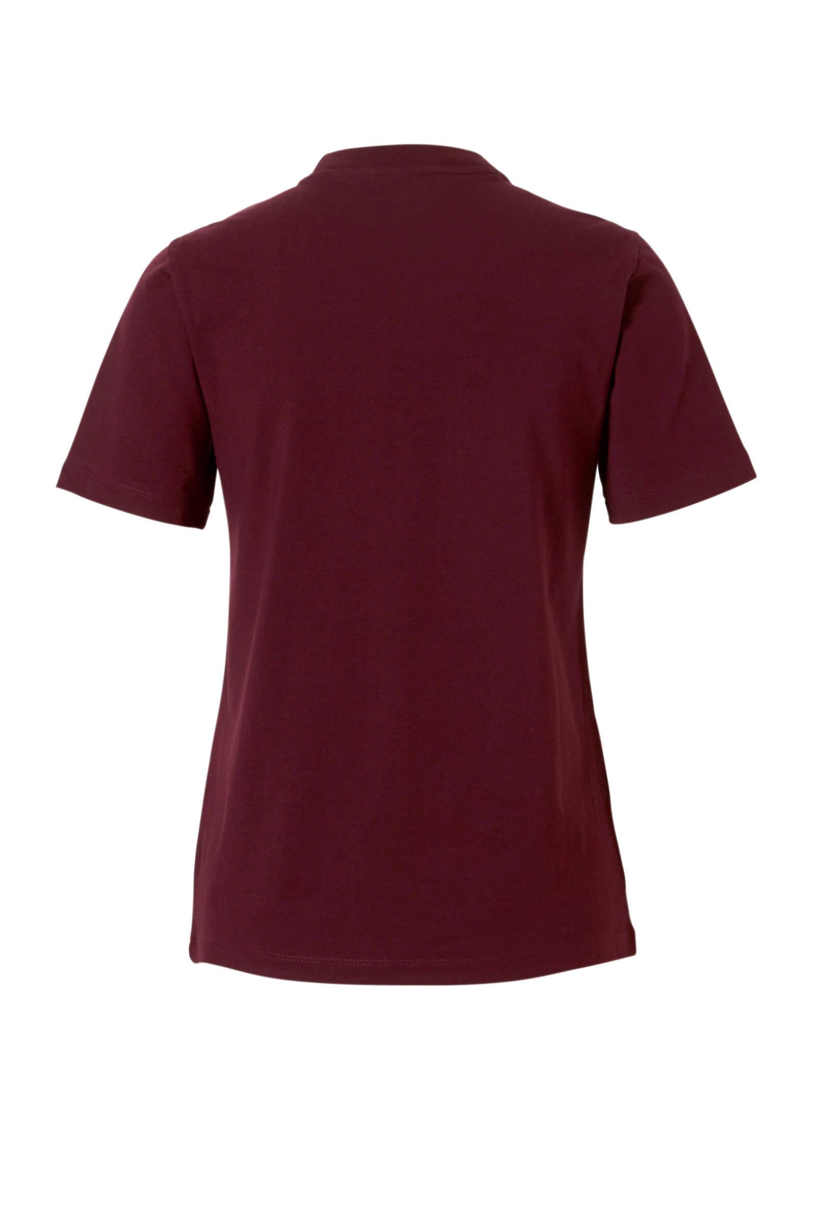 T-shirt bordeauxrood