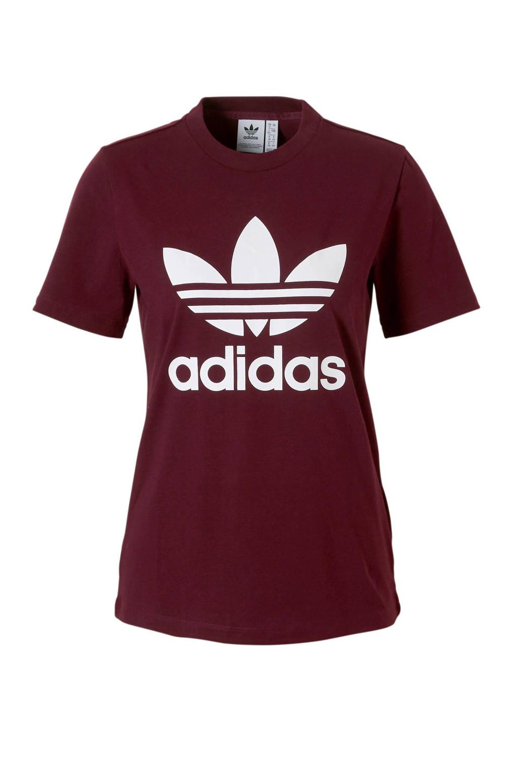 5897911c7fd adidas originals T-shirt bordeauxrood, Bordeauxrood, Dames