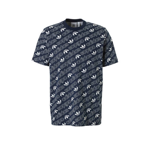 T-shirt met all-over print marine