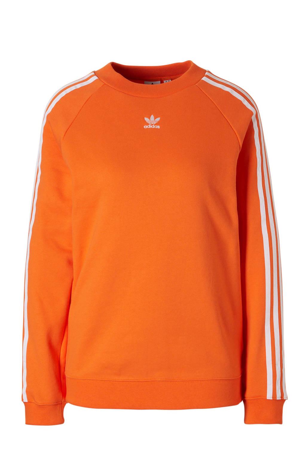 fd7698f5295 adidas originals sweater oranje, Oranje/wit