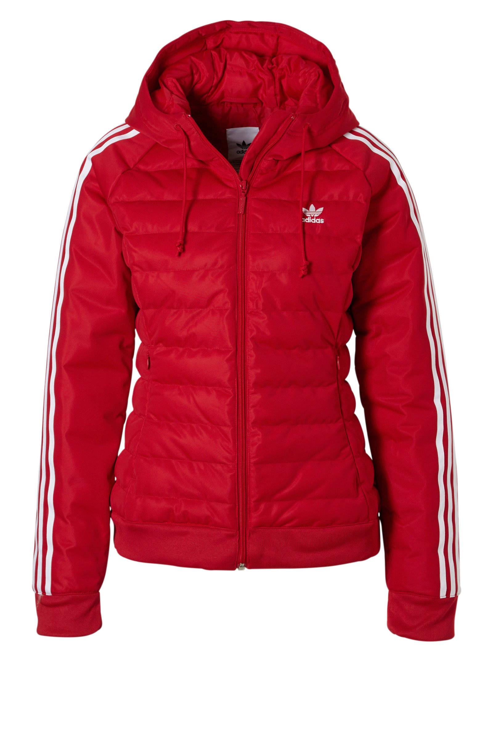 adidas Originals winterjas rood | wehkamp