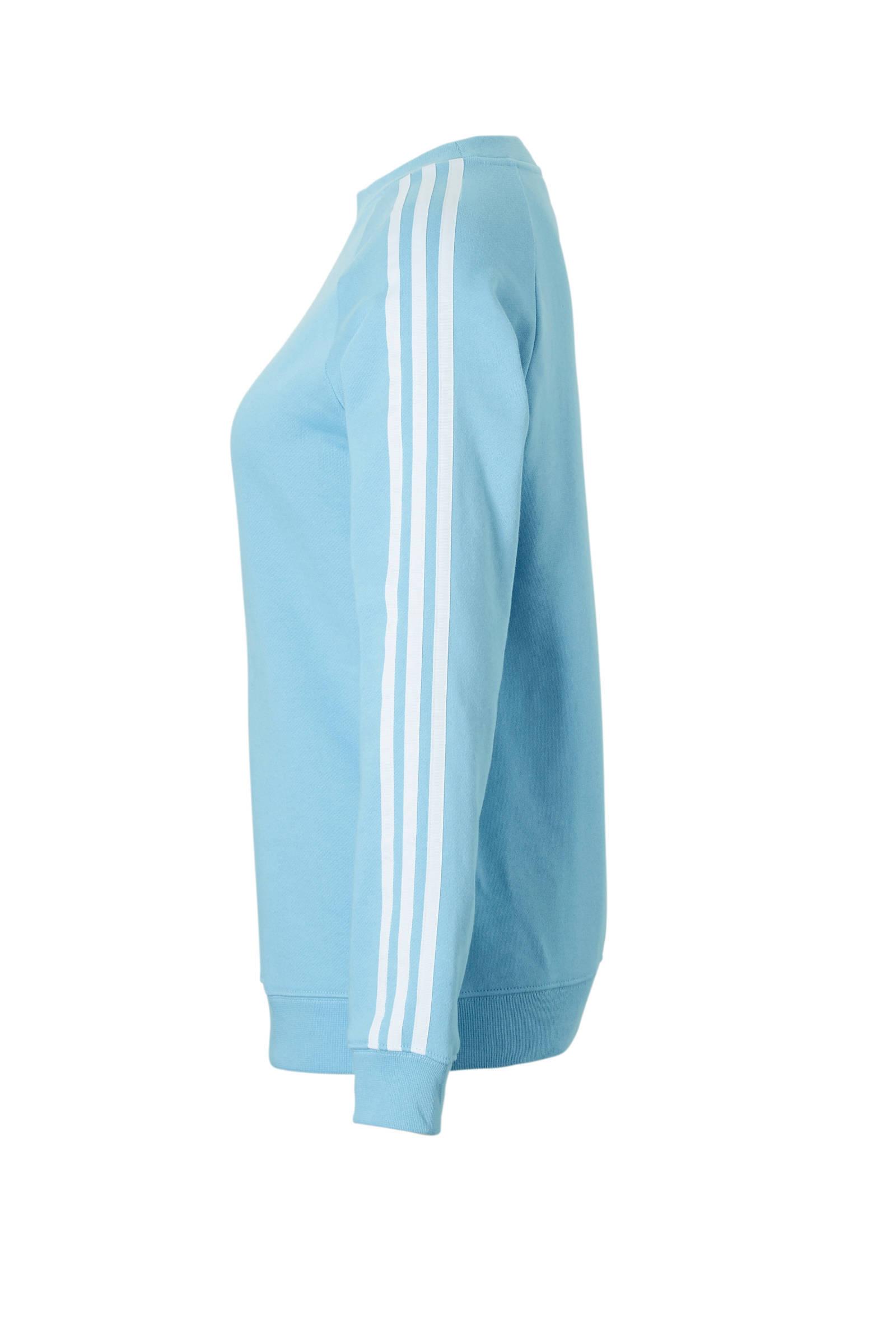 adidas Originals sweater lichtblauw | wehkamp