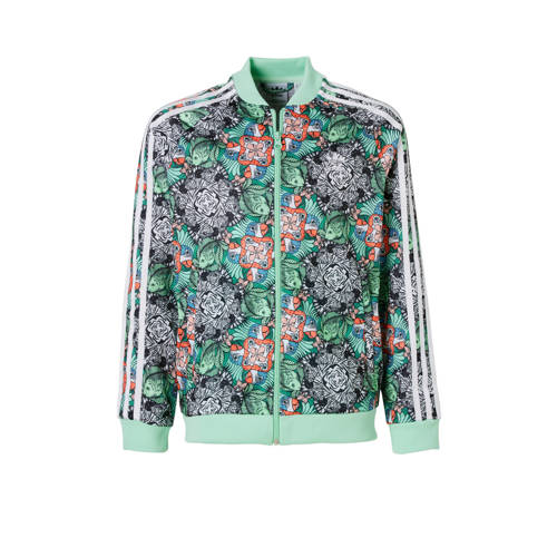 vest met all-over print mintgroen