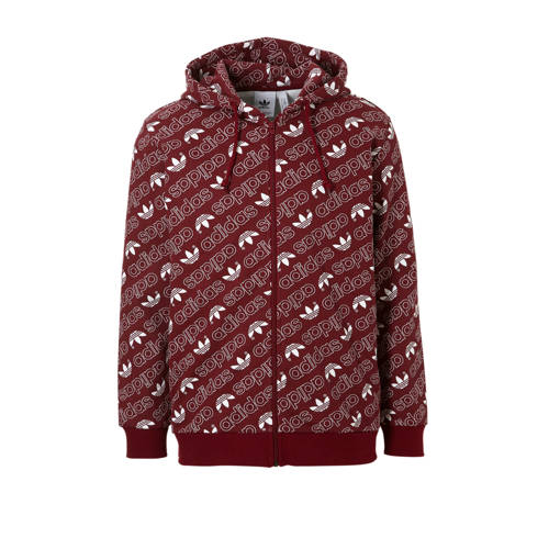 vest met all-over print bordeaux