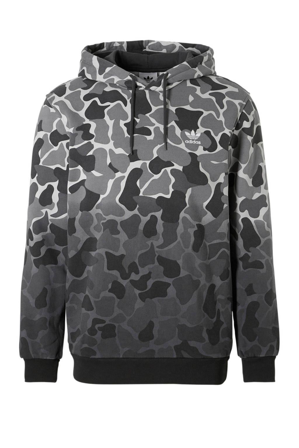 adidas originals   camouflage hoodie grijs, Grijs