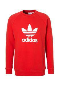 adidas originals   sweater rood (heren)