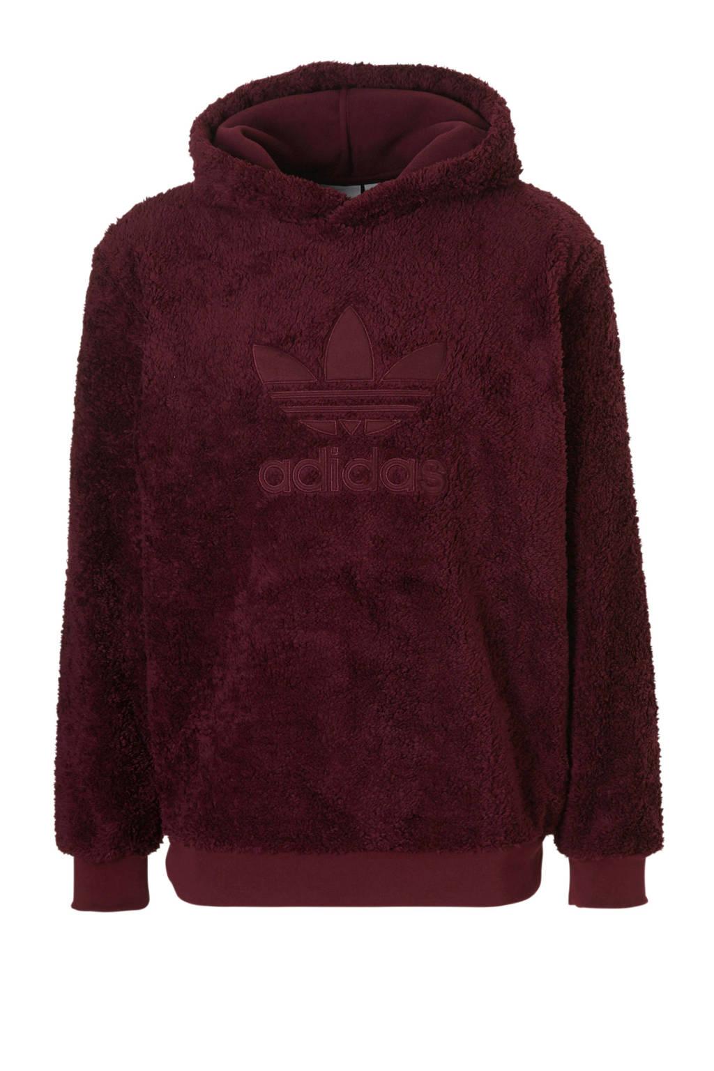 fa6f7efccfe adidas originals hoodie van teddy bordeaux, Bordeauxrood