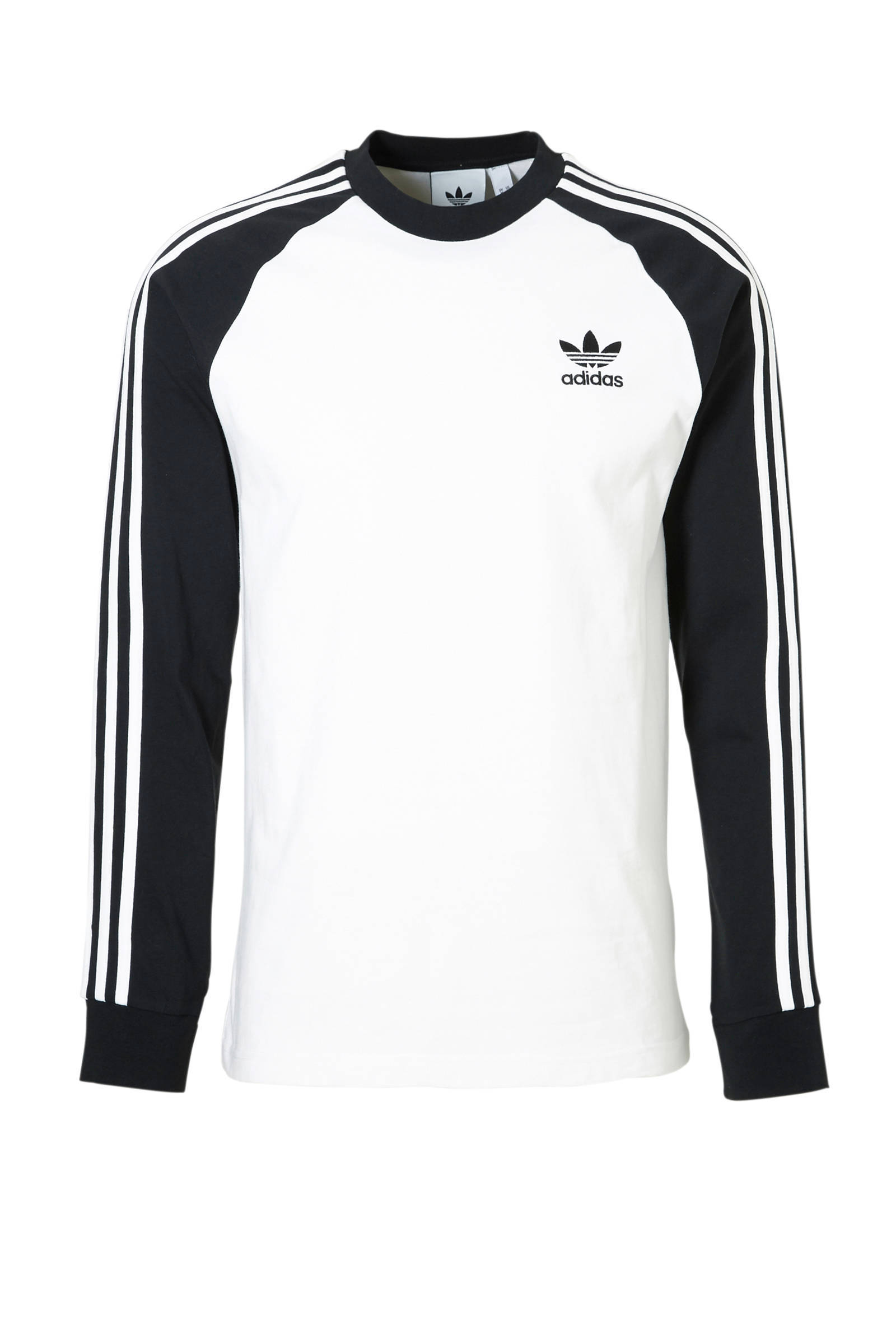 adidas Originals T-shirt wit/zwart | wehkamp