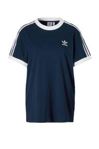 adidas / T-shirt donkerblauw
