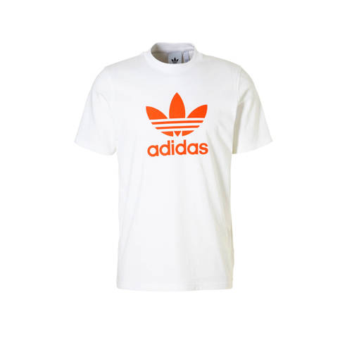 T-shirt wit-oranje