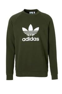 adidas Originals   sweater, Groen/wit