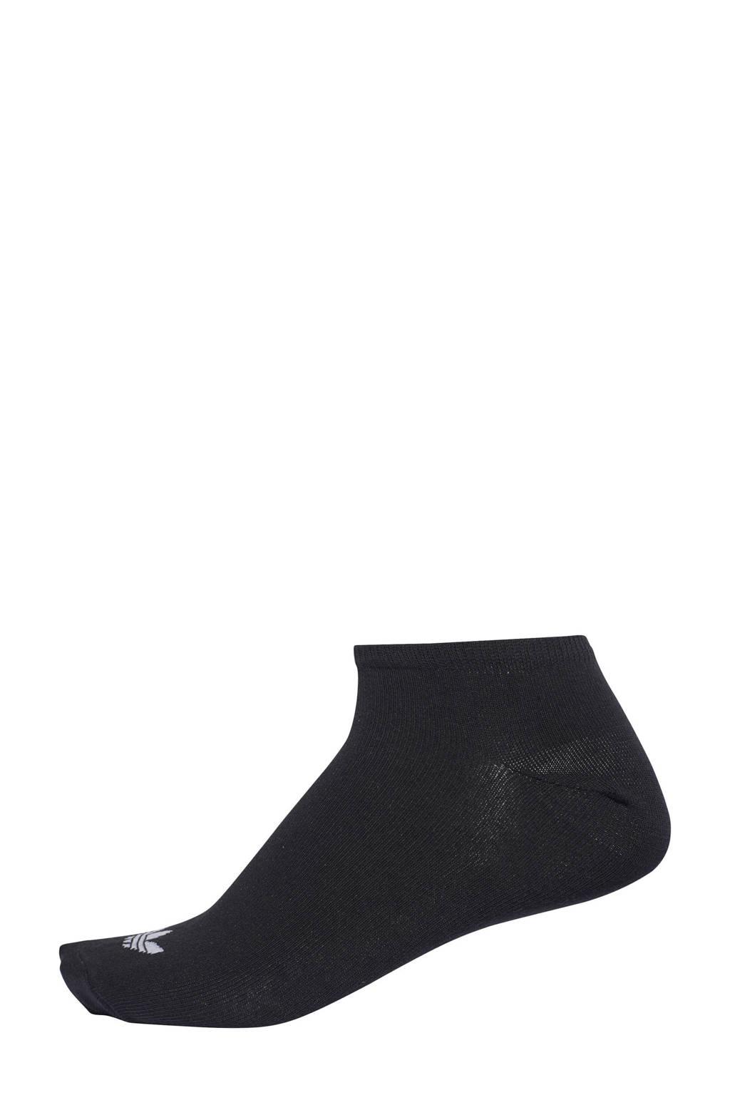 adidas Originals sneakersokken - set van 2 zwart, zwart/ wit