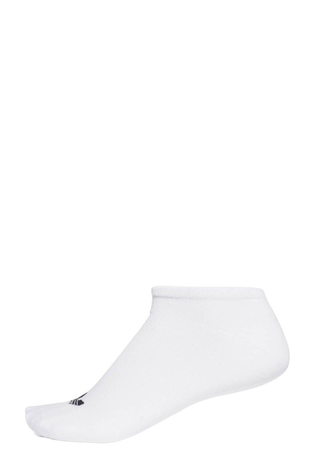 adidas Originals sneakersokken - set van 3 wit, wit/ zwart
