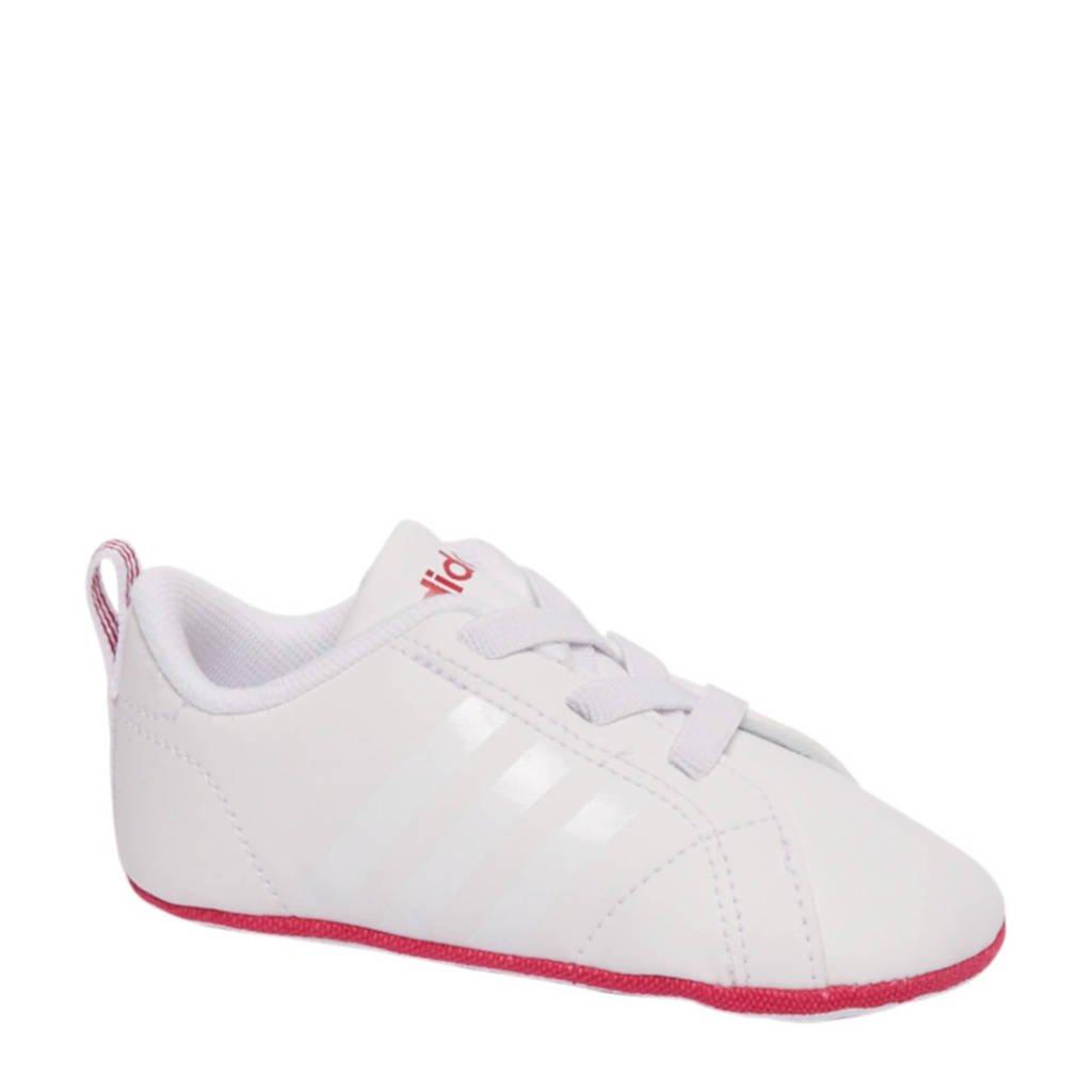 adidas Advantage Crib sneakers, Wit/roze