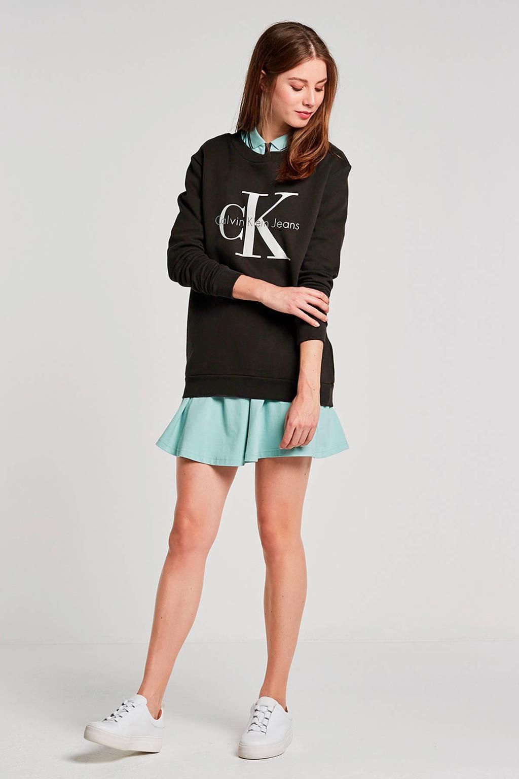Calvin Klein Jeans sweater met logo grijs, Grijs