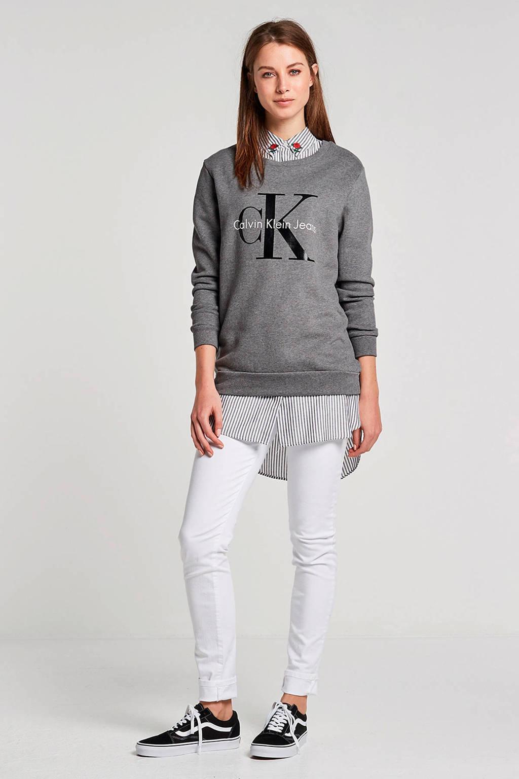 Calvin Klein Jeans sweater met logo, Grijs
