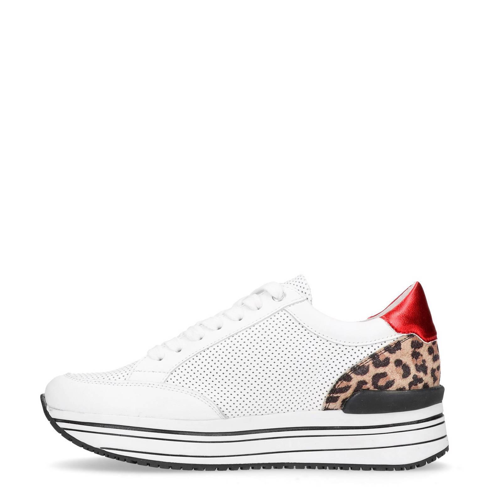 285fba5f57c Manfield leren sneakers met luipaardprint   wehkamp