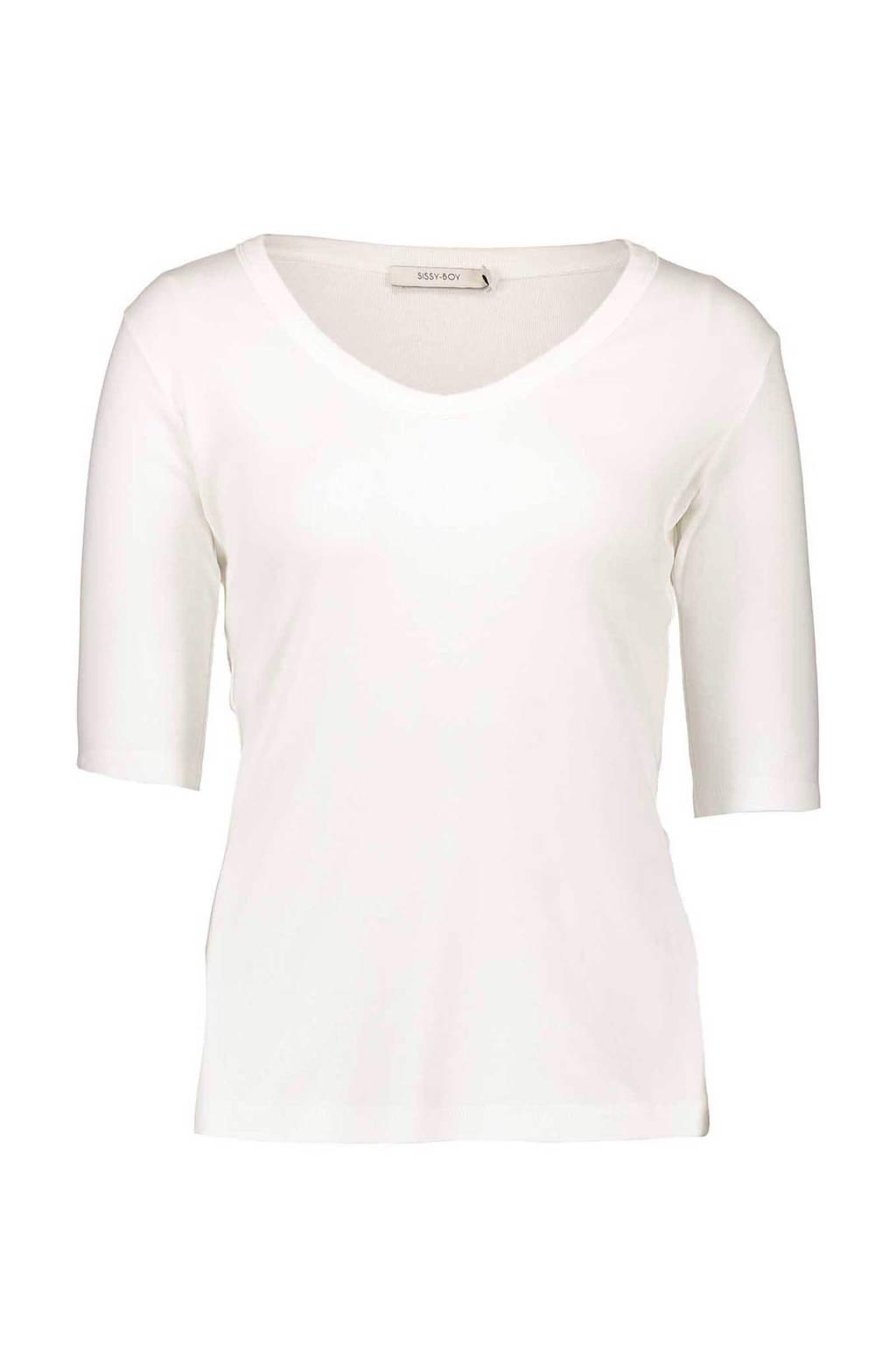 Sissy-Boy T-shirt wit, Bright White
