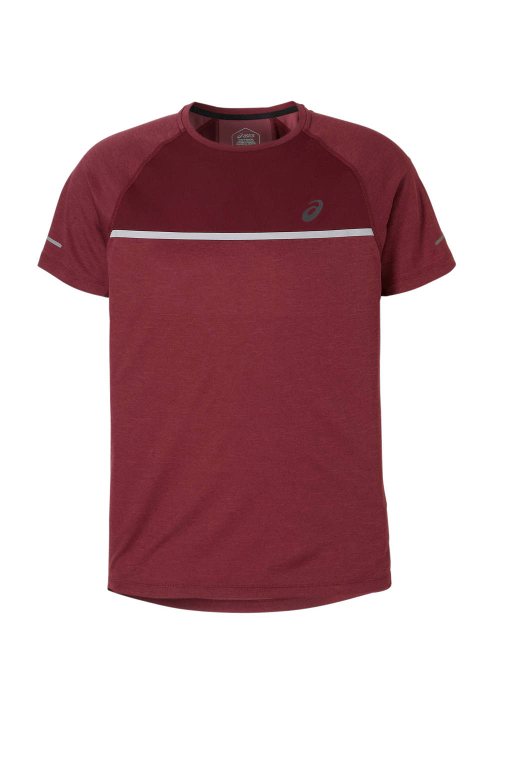 ASICS   hardloop T-shirt, Donkerrood