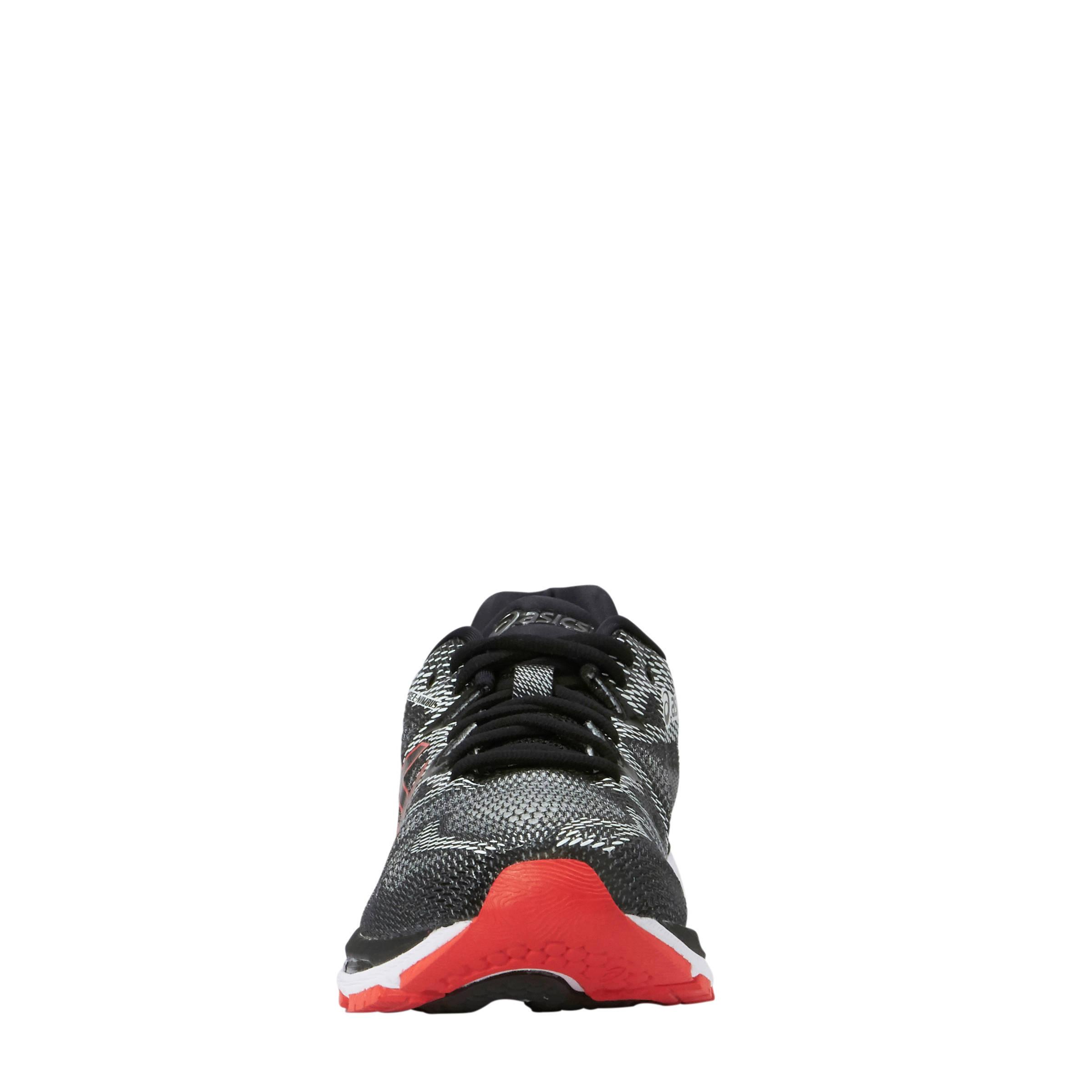 ASICS Gel Nimbus 20 hardloopschoenen zwartwitrood | wehkamp