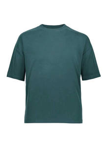 boxy fit T-shirt petrol