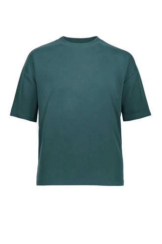 boxy fit T-shirt petrol