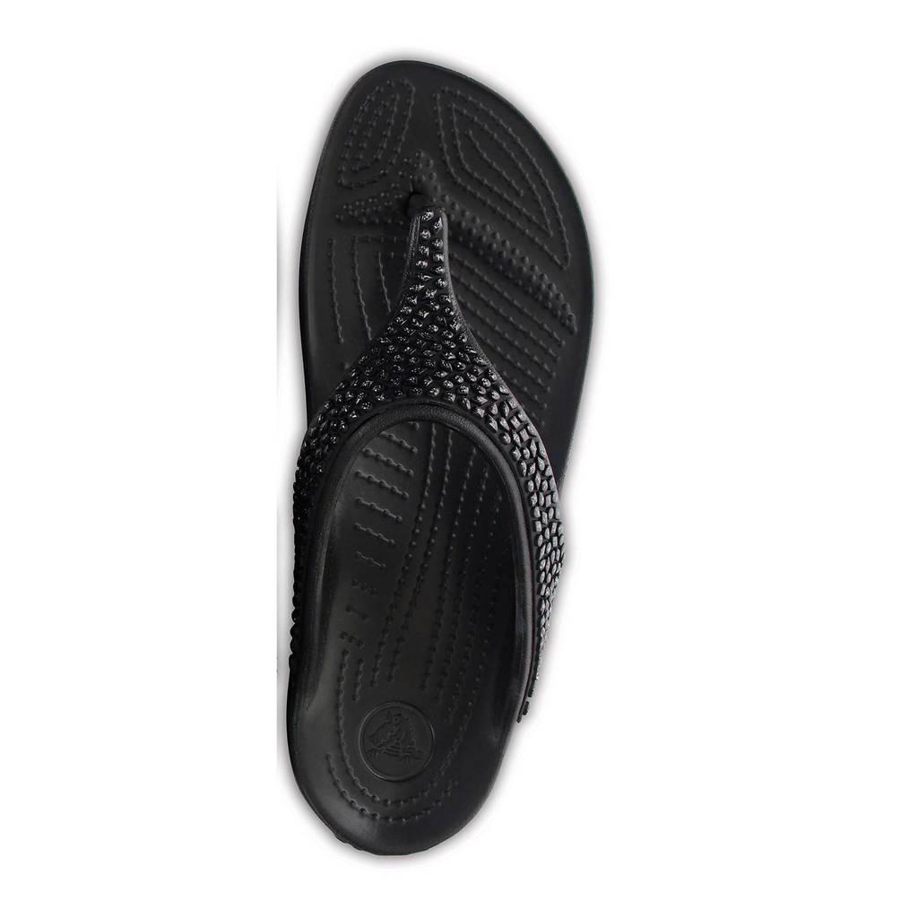 Siersteentjes Zwart Met Teenslippers Crocs Sloane q6vgFAct