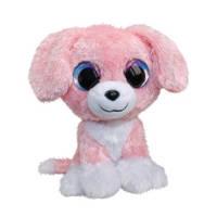 Lumo Stars hond Pinky classic knuffel 15 cm