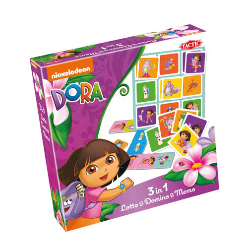 Tactic Dora 3in1 Lotto, Domino & Memo kinderspel kopen