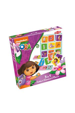 Dora 3in1 Lotto, Domino & Memo kinderspel