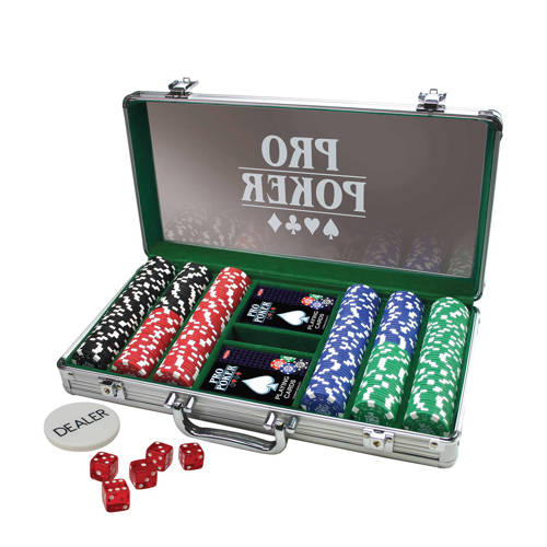 Tactic Pro poker Set Case 300 chips 11,5 gram dobbelspel kopen