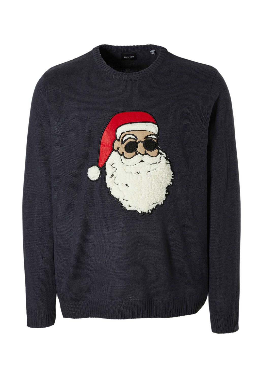 Only & Sons PLUS kersttrui, Donkerblauw