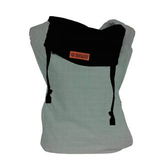 Click Carrier Classic reversible draagzak black/minty grey