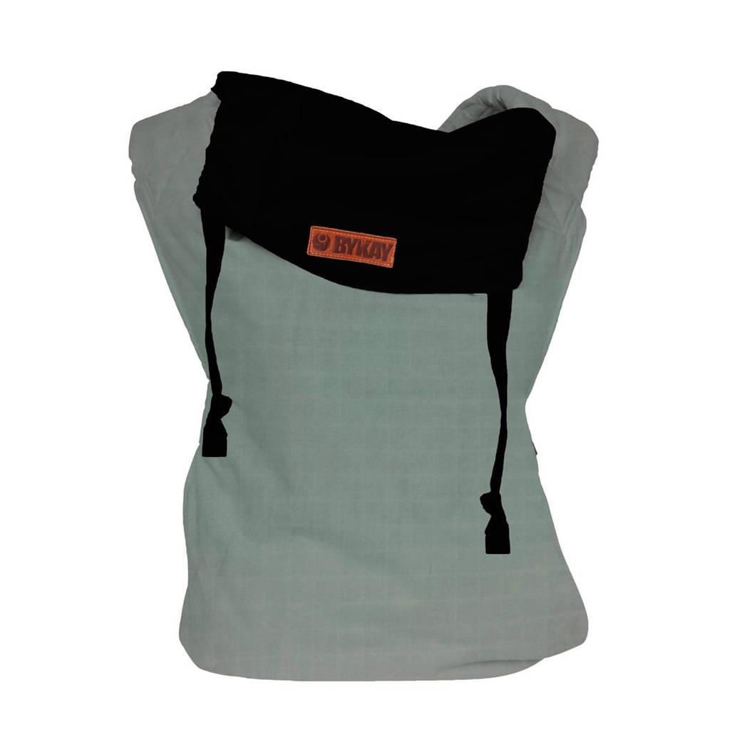 ByKay draagzak Click Carrier Reversible 50405 mintgroen/zwart, Black/minty grey