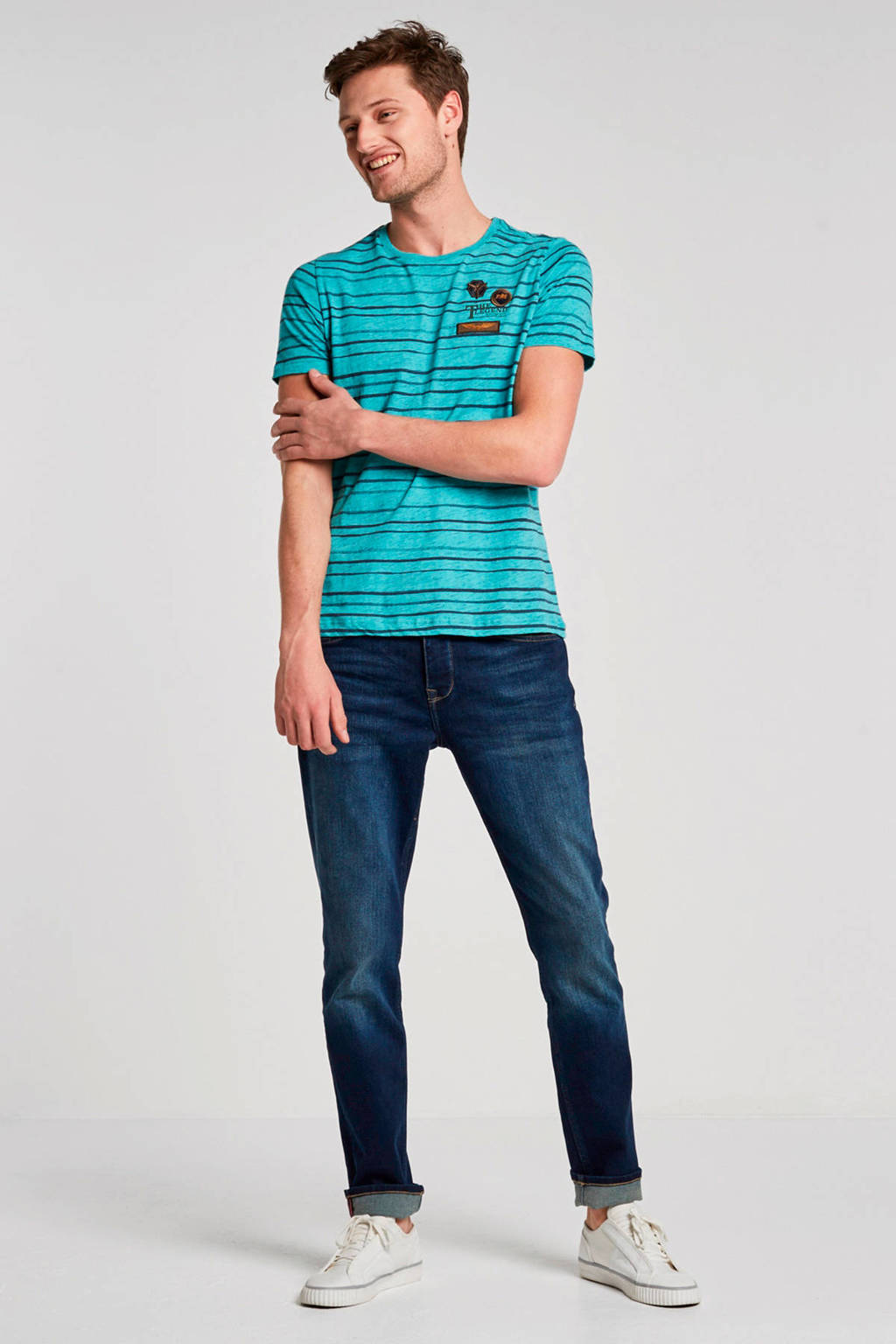 Petrol Industries tapered fit jeans Thruxton, Dark Blue