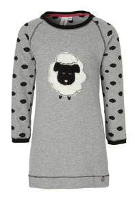 Rebelle nachthemd met schaap grijs, Grijs/zwart/ecru