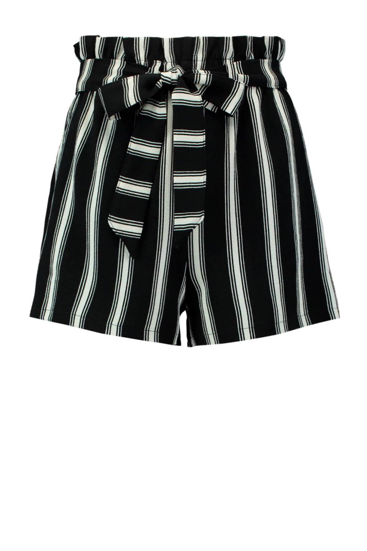 Geliefde CoolCat gestreepte korte broek zwart | wehkamp #NI65
