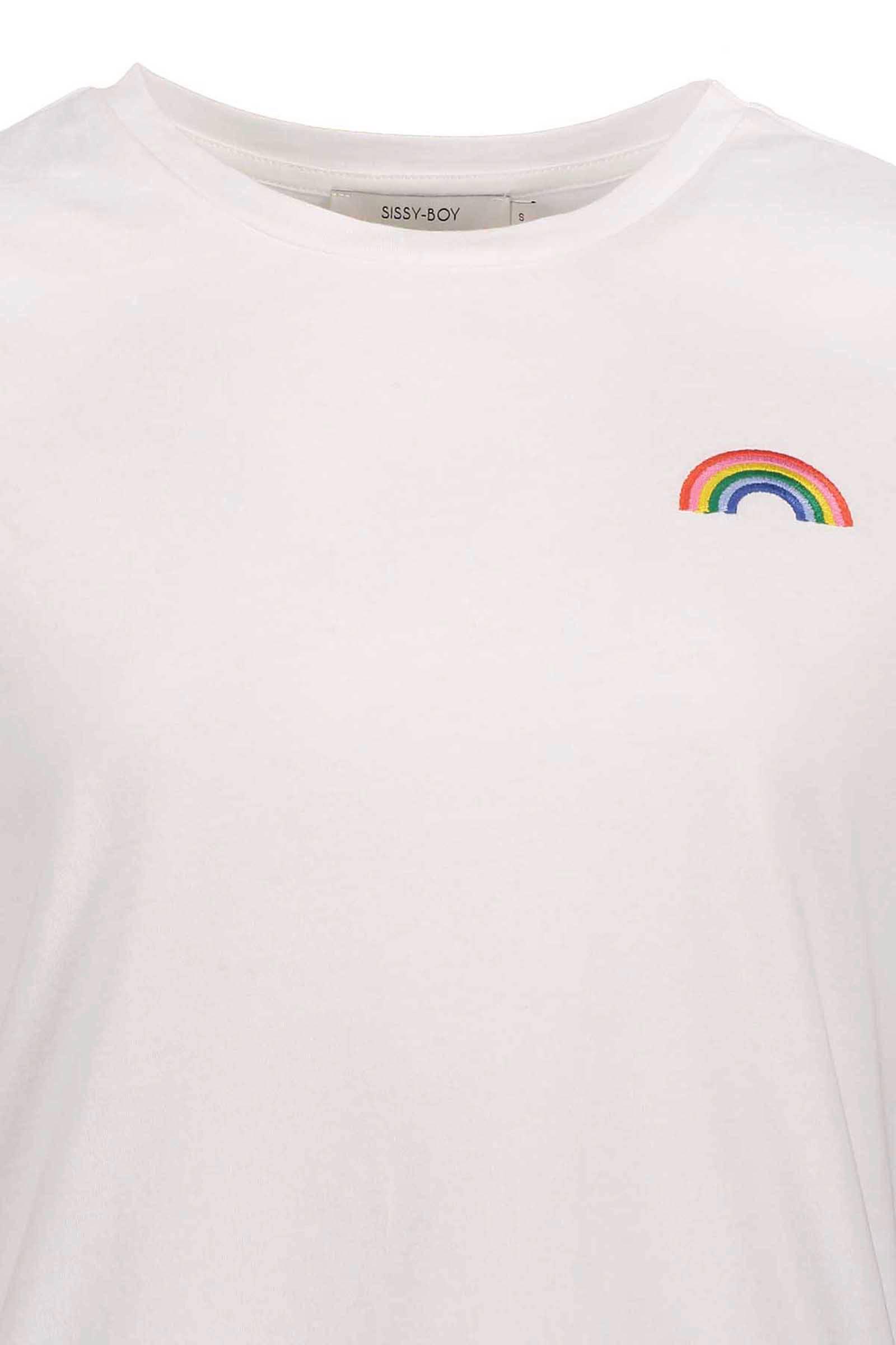 T shirt met borduursel wit