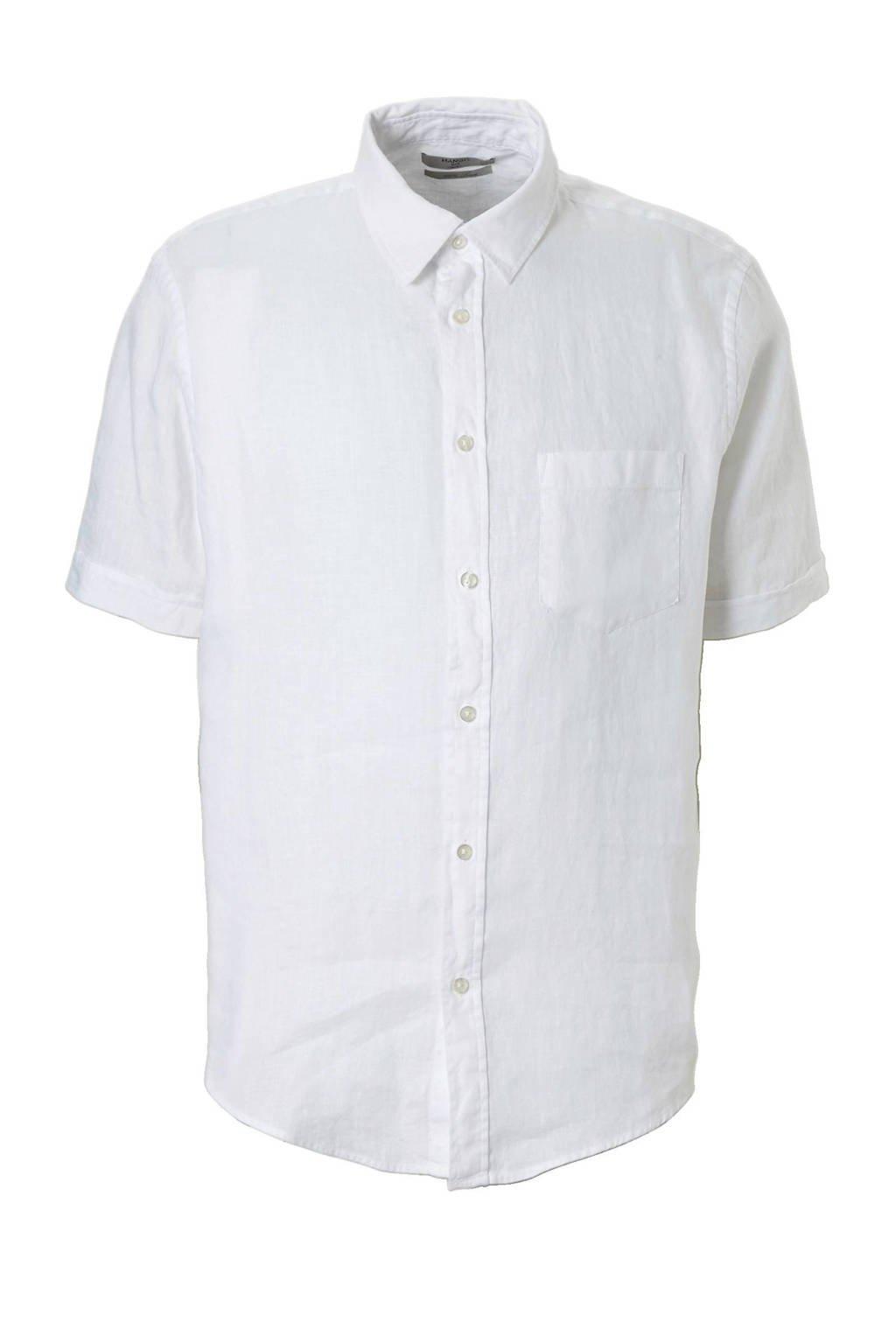 Linnen Overhemd Wit.Mango Man Linnen Overhemd Wit Wehkamp