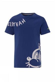 T-shirt met print blauw